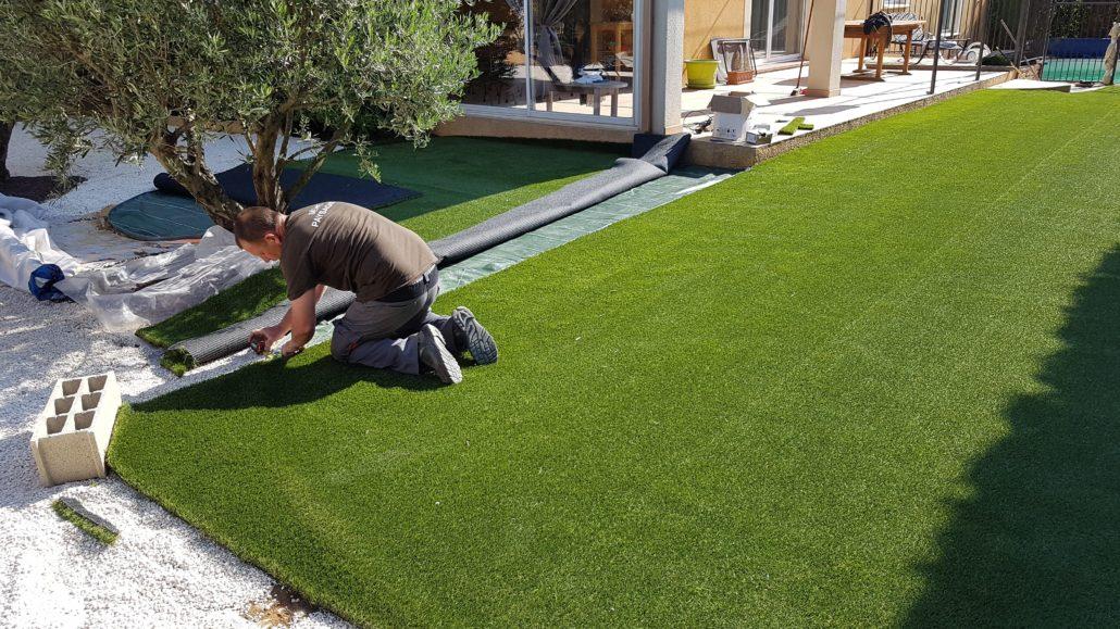 professionnel pelouse